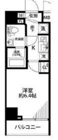プレール・ドゥーク川崎9階Fの間取り画像