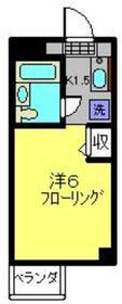 ハチハイム3階Fの間取り画像