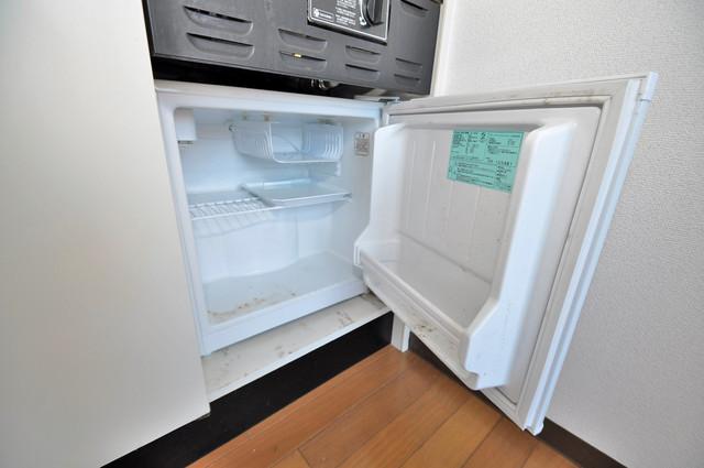 シティビラ新深江 嬉しいミニ冷蔵庫付きです。家電代1つ分浮きましたね。