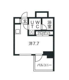 クラリッサ横浜アレッタ3階Fの間取り画像