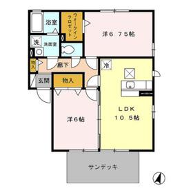 コンフォート弐番館Ⅱ1階Fの間取り画像
