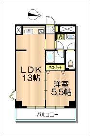 プリミエール藤田5階Fの間取り画像