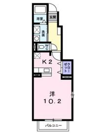 湘南サニーライフB1階Fの間取り画像