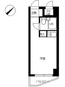 スカイコート横浜日ノ出町4階Fの間取り画像