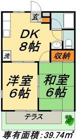 アビタシオンM1階Fの間取り画像