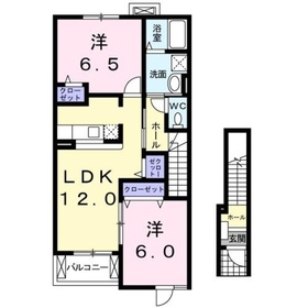 メゾン・ド・エトワール2階Fの間取り画像