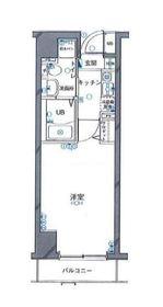 グリフィン新横浜・アリーナ前5階Fの間取り画像