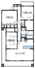クリオマンション本厚木壱番館2階Fの間取り画像
