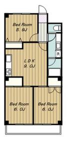 第二西武マンション2階Fの間取り画像