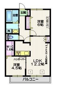 アルページュ桜1階Fの間取り画像