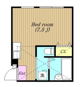 ロジュマン鹿沼台1階Fの間取り画像