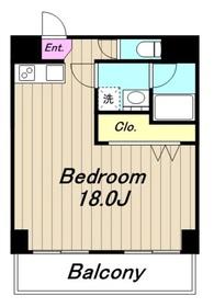 プリムローズハウス6階Fの間取り画像