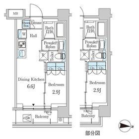 ジオエント中野弥生町3階Fの間取り画像