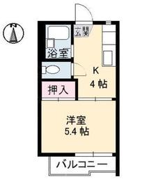 ウイングJUN2階Fの間取り画像
