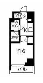 スパシエロッサ横浜吉野町5階Fの間取り画像