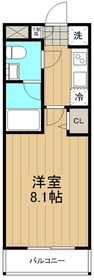 びゅうコート国府津3階Fの間取り画像