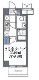 エルスタンザ大口3階Fの間取り画像