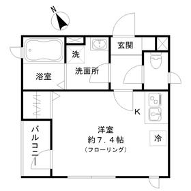 デュオ飯倉3階Fの間取り画像