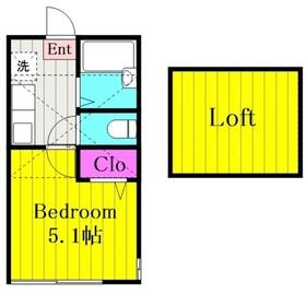 コンフォルトⅠ1階Fの間取り画像