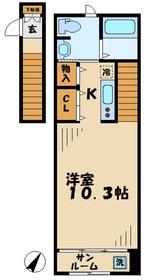 カーサカルム2階Fの間取り画像