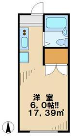 向ノ岡ハイツ2階Fの間取り画像