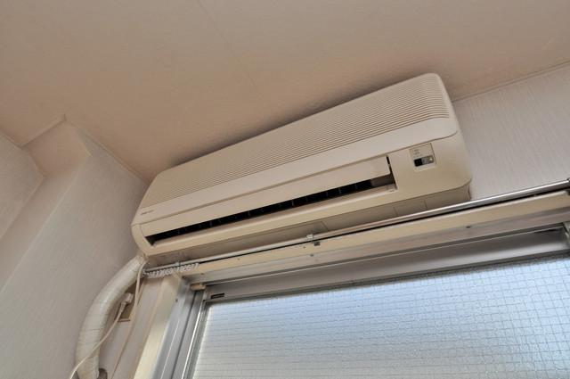 ハイツせせらぎ エアコンが最初からついているなんて、本当にうれしい限りです。