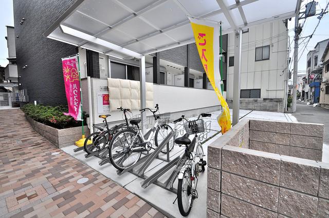 セントロイエルSeifu 屋根付き駐輪場は大切な自転車を雨風から守ってくれます。