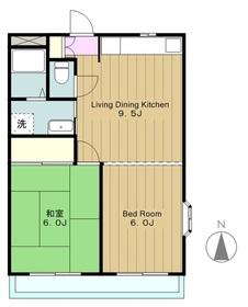 ビーハイブ2階Fの間取り画像