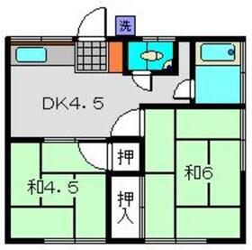 第一輝荘1階Fの間取り画像
