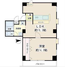 綱島駅 徒歩5分5階Fの間取り画像