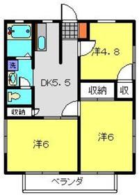 サンライズ東寺尾2階Fの間取り画像