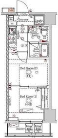 ラフィスタ川崎Ⅵ7階Fの間取り画像