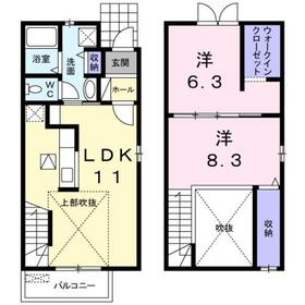 宮山駅 徒歩16分1階Fの間取り画像
