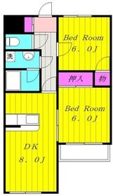 京王多摩川駅 徒歩8分3階Fの間取り画像
