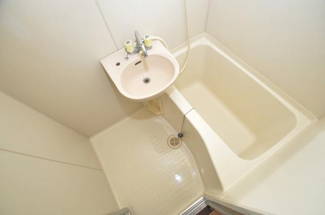 ゴッドフィールド今里 ちょうどいいサイズのお風呂です。お掃除も楽にできますよ。