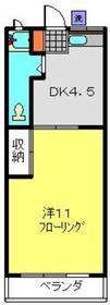 羽沢コーポ1階Fの間取り画像