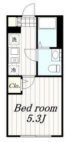 鶴間駅 徒歩5分3階Fの間取り画像