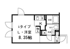 ALERO HakusanII (アレーロ白山2)4階Fの間取り画像