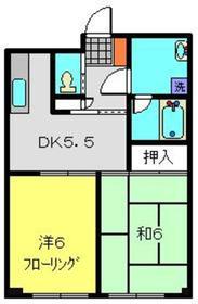 ラフィネK1階Fの間取り画像