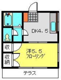 リバーサイドS1階Fの間取り画像