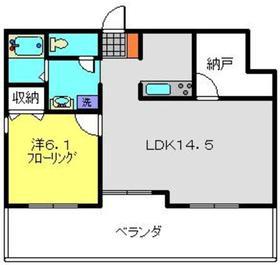 サザンヒルズ新横浜3階Fの間取り画像