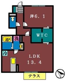FCB Ⅰ1階Fの間取り画像