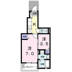 下赤塚駅 徒歩17分1階Fの間取り画像