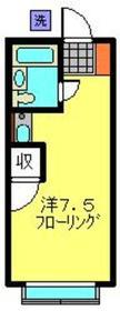 白楽エスプレシーボⅡ2階Fの間取り画像