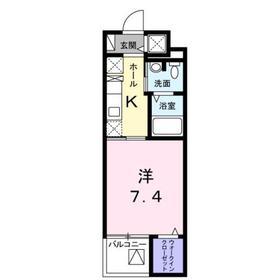 サニーフラット3階Fの間取り画像