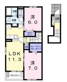 レ リアン B2階Fの間取り画像
