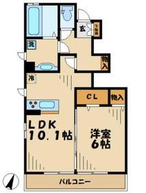 ルミエールA1階Fの間取り画像