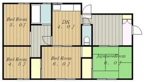 モーリスアパート1階Fの間取り画像