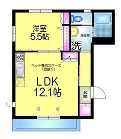 コルダ勝田台2階Fの間取り画像