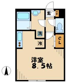 リブリニュータウン2階Fの間取り画像